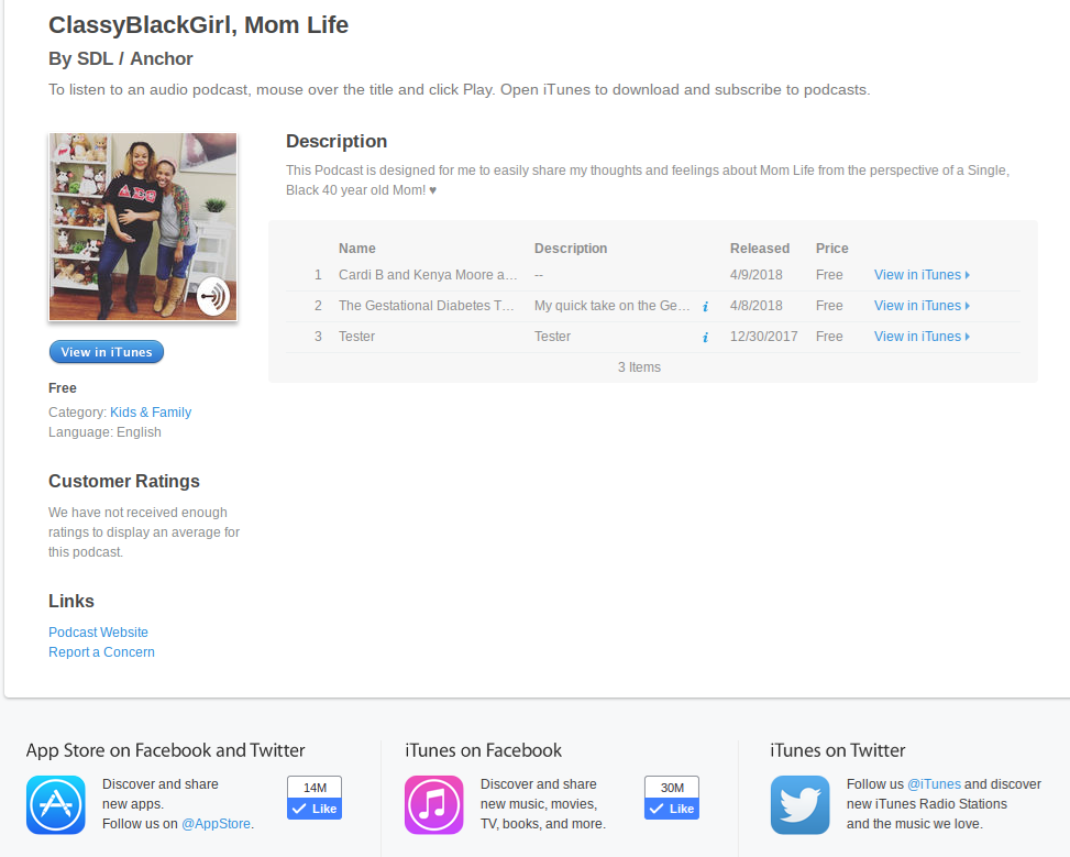 Classy Black Girl Podcast on Itunes